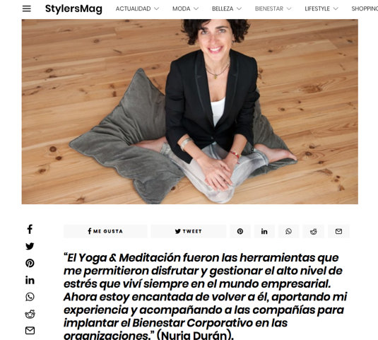 Entrevista en Stylers Mag - Blog Made of Yoga